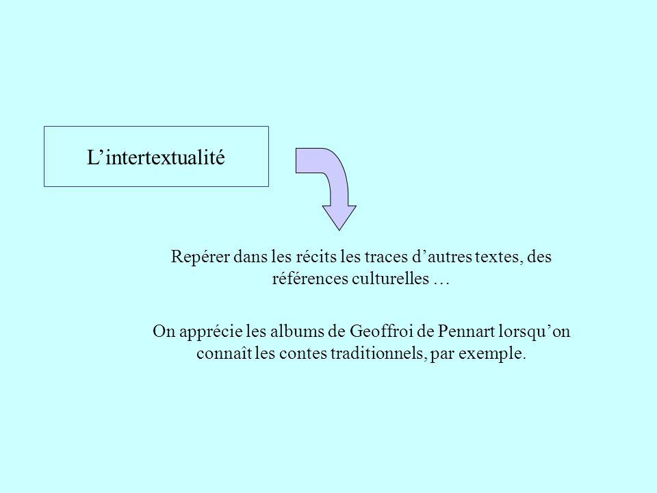 L'intertextualité Repérer dans les récits les traces d'autres textes, des références culturelles …