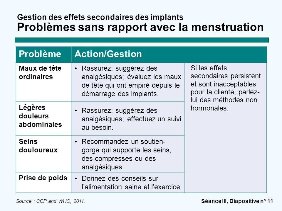 Problème Action/Gestion