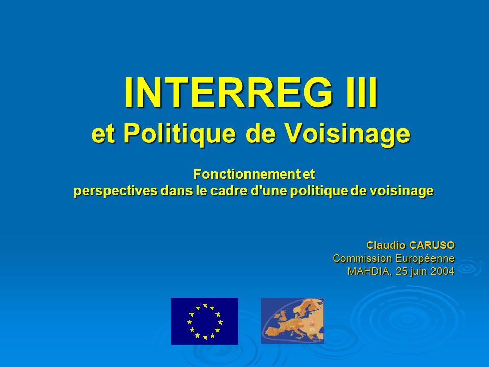 INTERREG III et Politique de Voisinage
