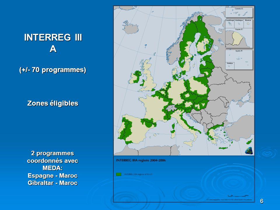 2 programmes coordonnés avec MEDA: