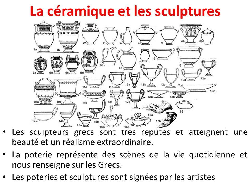 La céramique et les sculptures