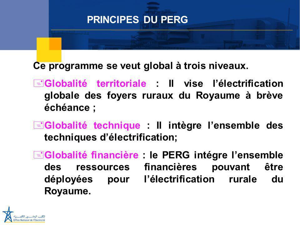 PRINCIPES DU PERG Ce programme se veut global à trois niveaux.