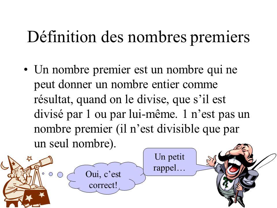 Définition des nombres premiers