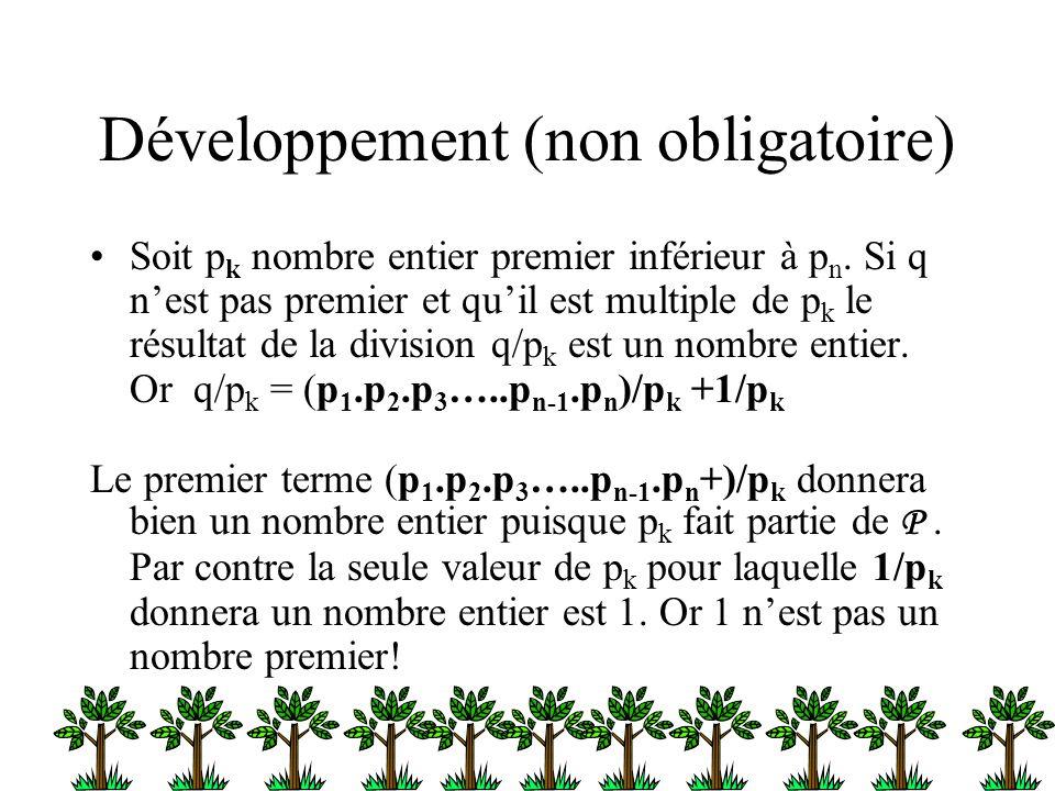 Développement (non obligatoire)
