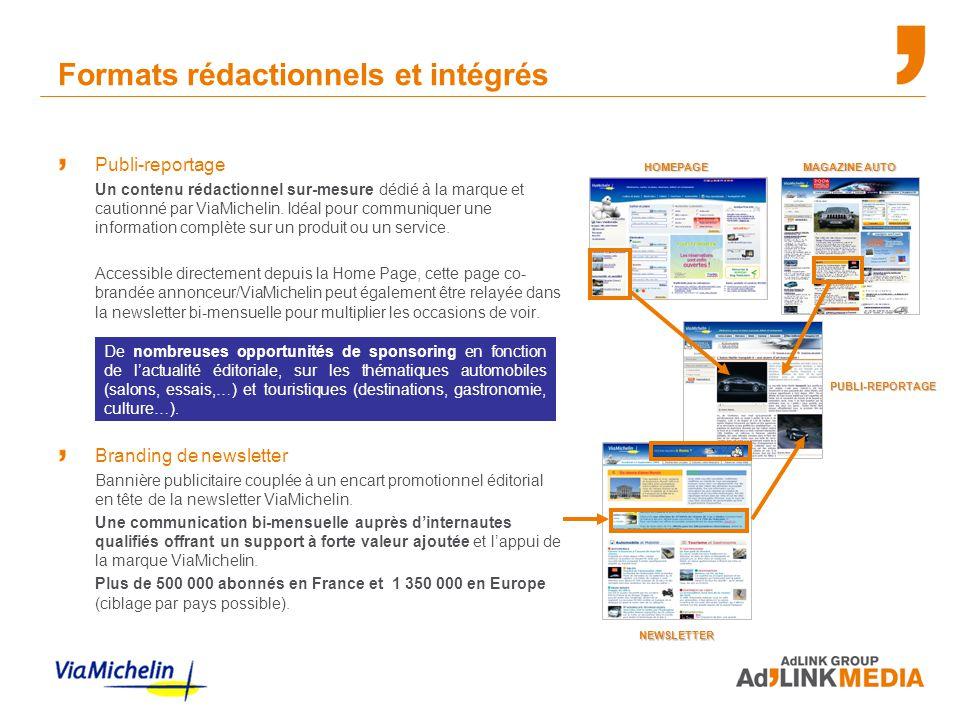 Formats rédactionnels et intégrés