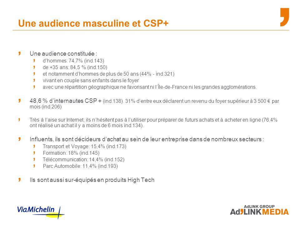 Une audience masculine et CSP+