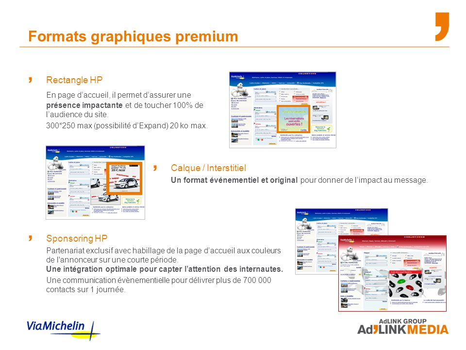 Formats graphiques premium