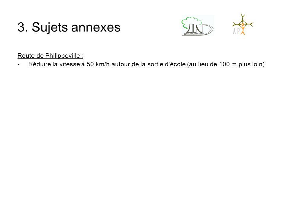 3. Sujets annexes Route de Philippeville :