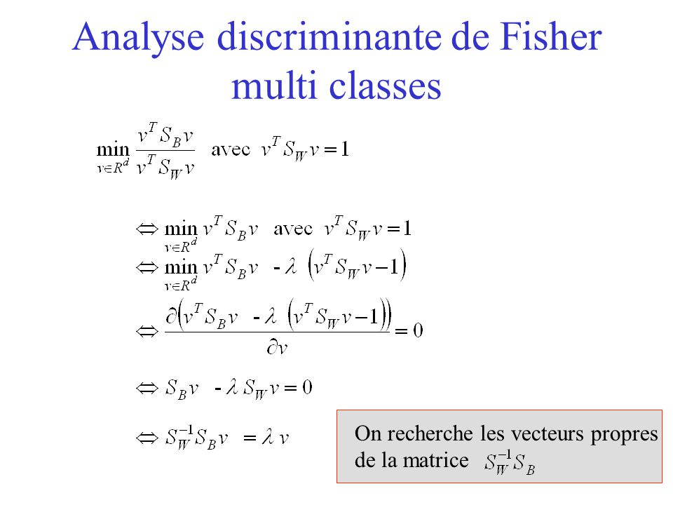 Analyse discriminante de Fisher multi classes
