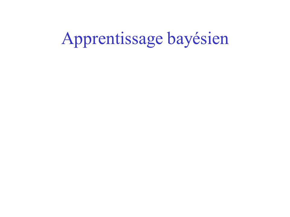 Apprentissage bayésien