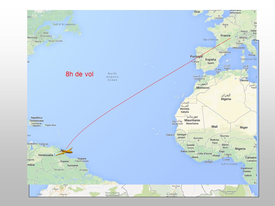 8h de vol 2h de vol 50 mn de vol 3h de vol