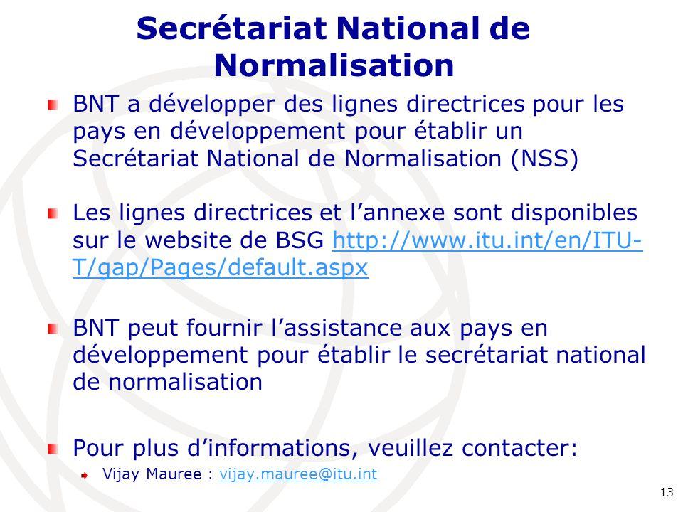 Secrétariat National de Normalisation