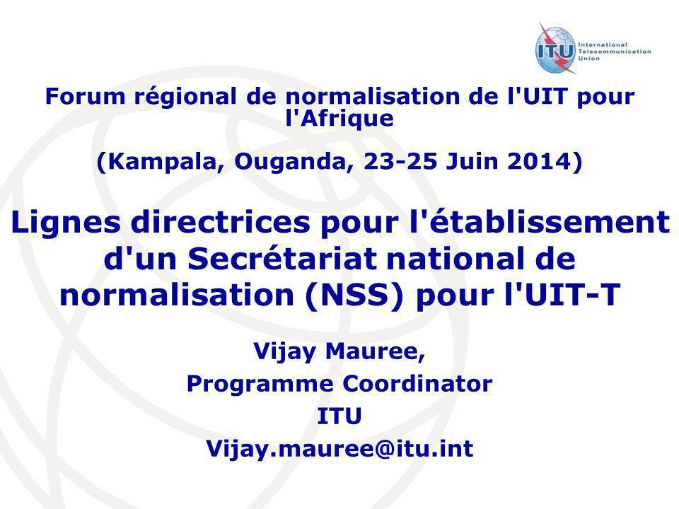 Vijay Mauree, Programme Coordinator ITU Vijay.mauree@itu.int