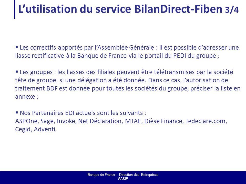 Banque de France – Direction des Entreprises