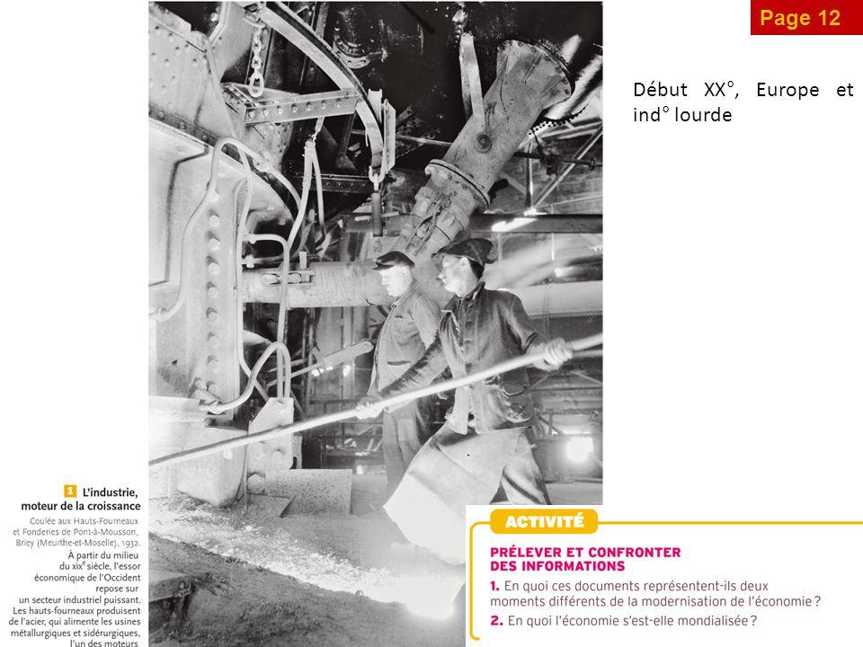 Page 12 Début XX°, Europe et ind° lourde