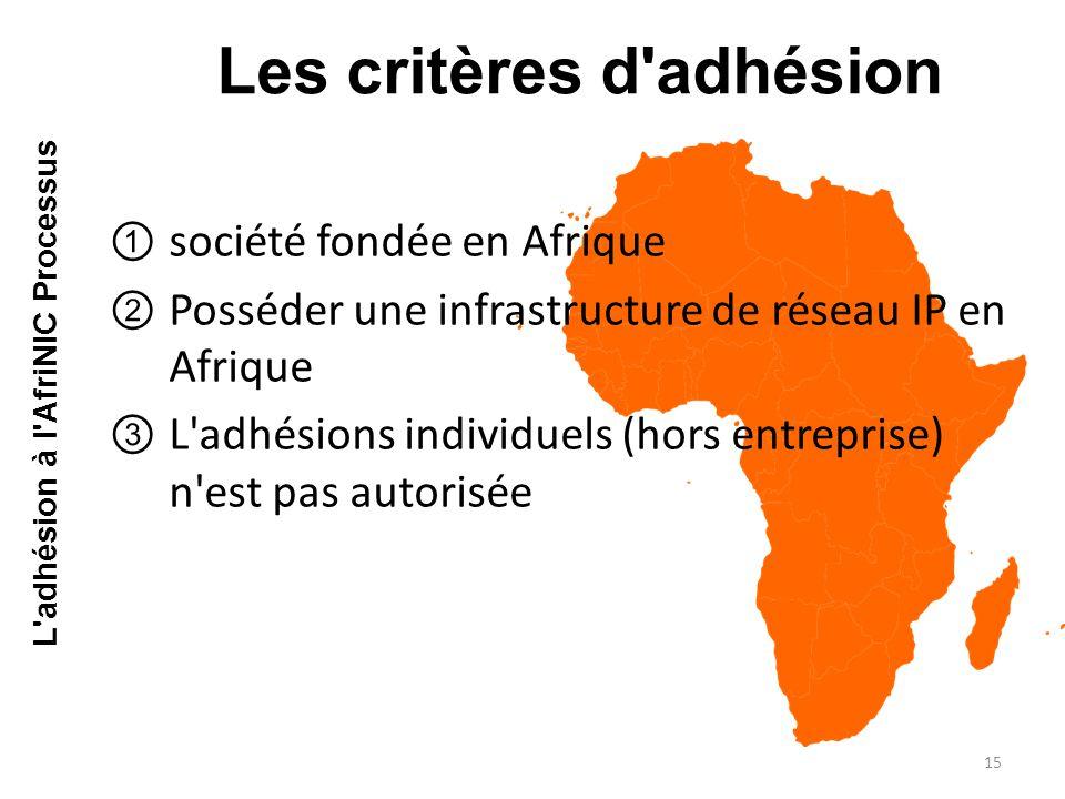 Les critères d adhésion