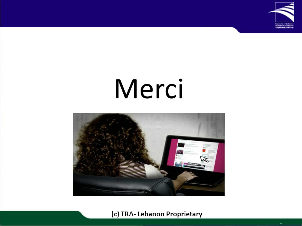 Merci 1/20 (c) TRA- Lebanon Proprietary
