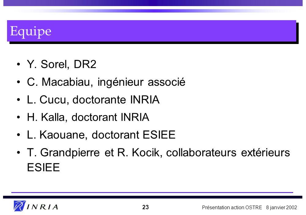 Equipe Y. Sorel, DR2 C. Macabiau, ingénieur associé