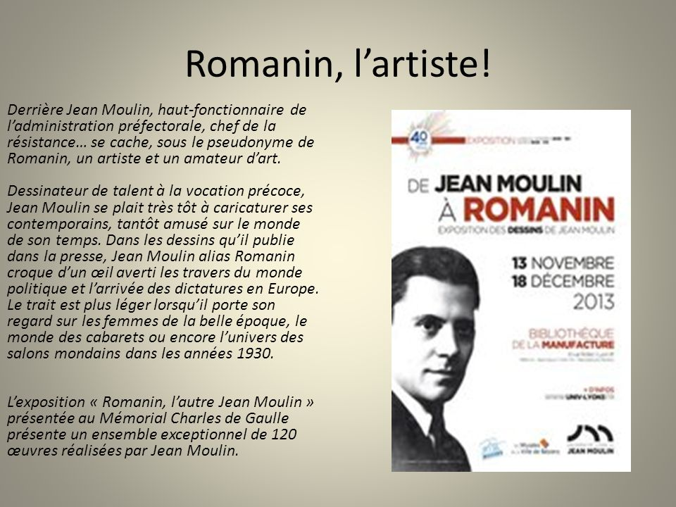 Romanin, l'artiste!