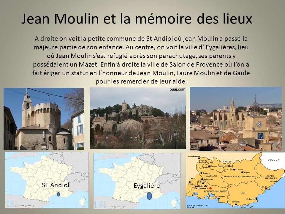 Jean Moulin et la mémoire des lieux