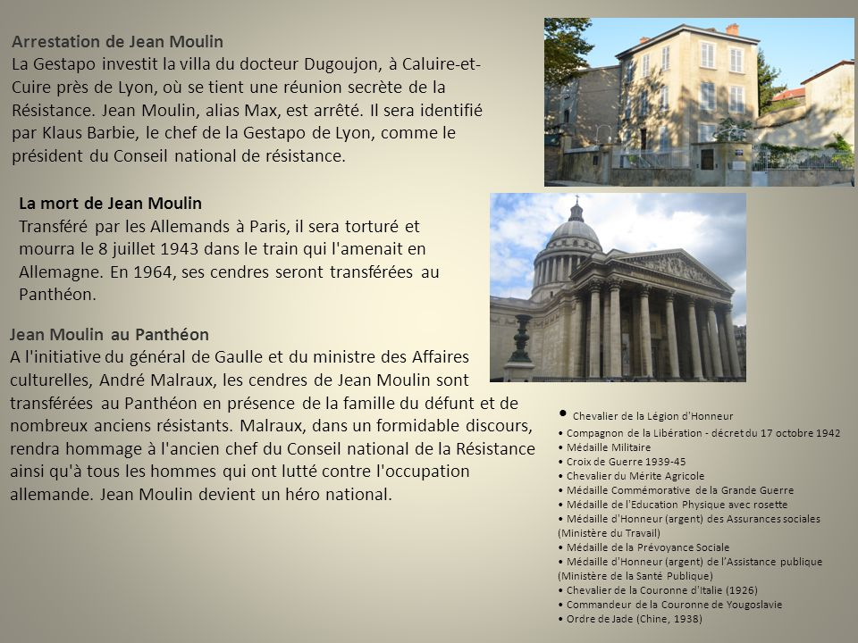 Jean Moulin au Panthéon