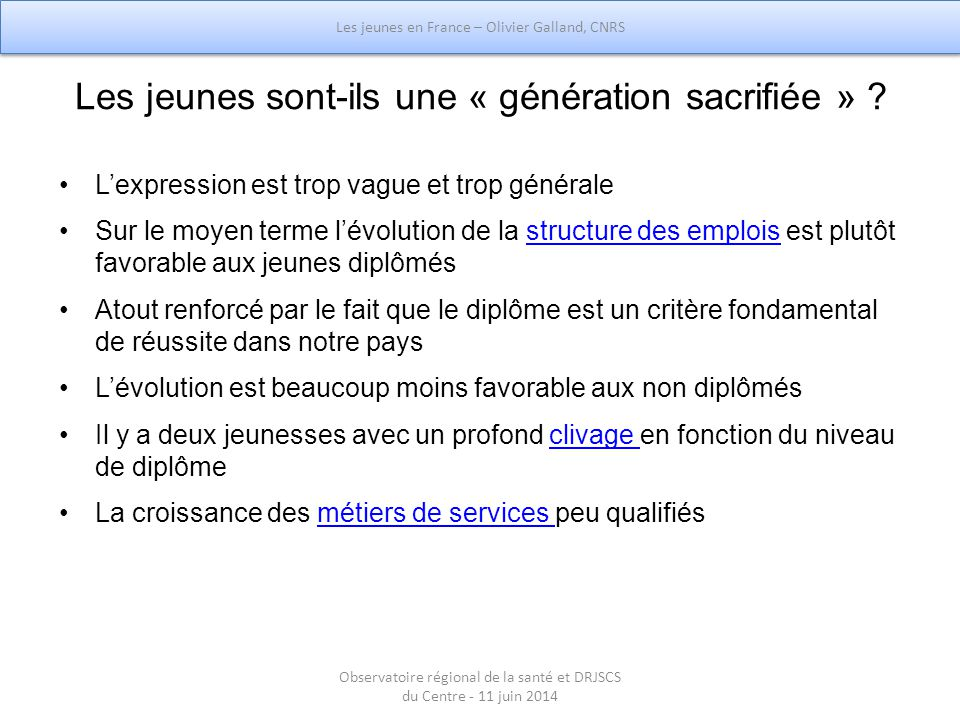 Les jeunes sont-ils une « génération sacrifiée »