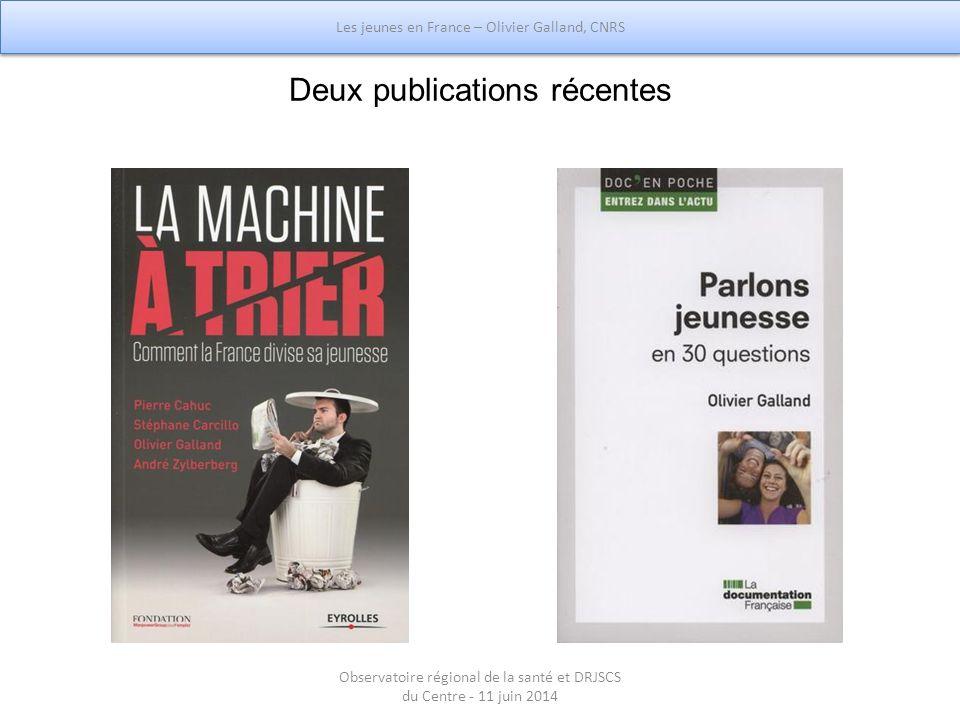 Deux publications récentes