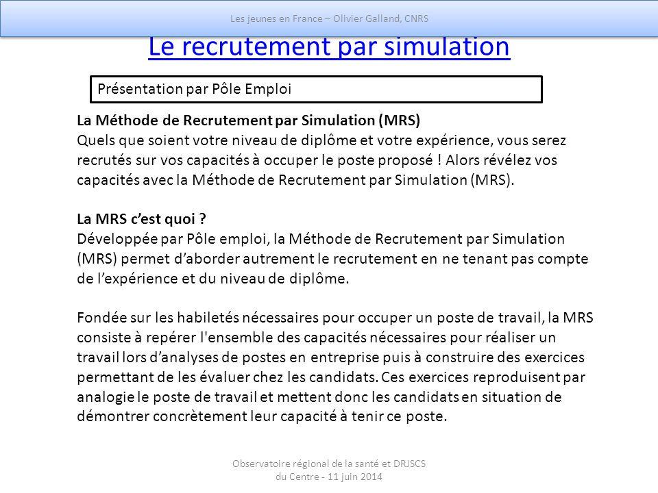 Le recrutement par simulation