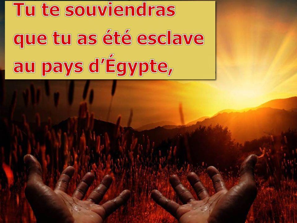 Tu te souviendras que tu as été esclave au pays d'Égypte,
