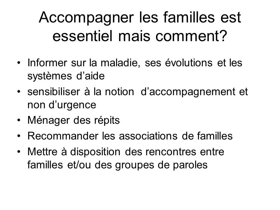 Accompagner les familles est essentiel mais comment