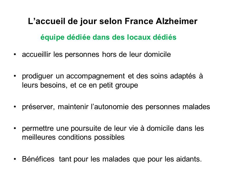 L'accueil de jour selon France Alzheimer
