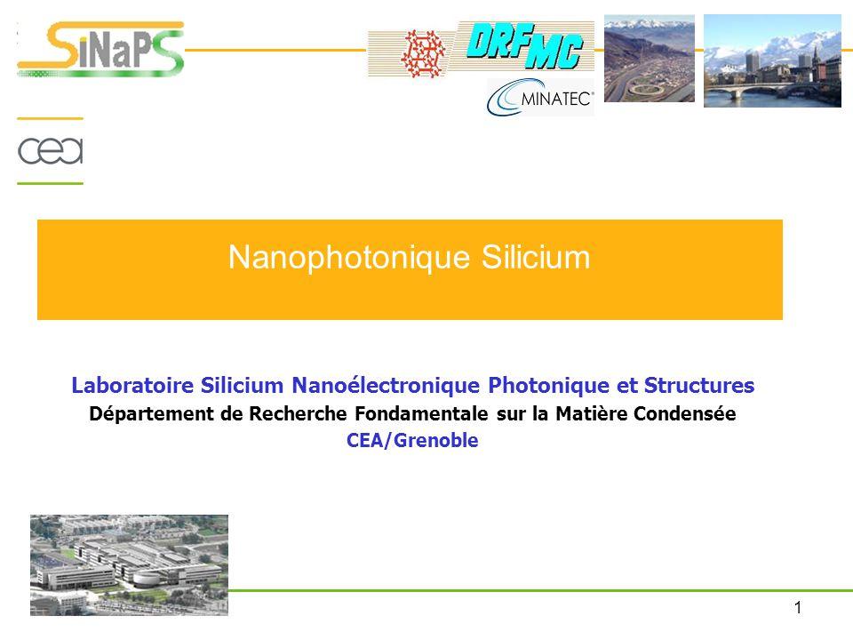 Nanophotonique Silicium