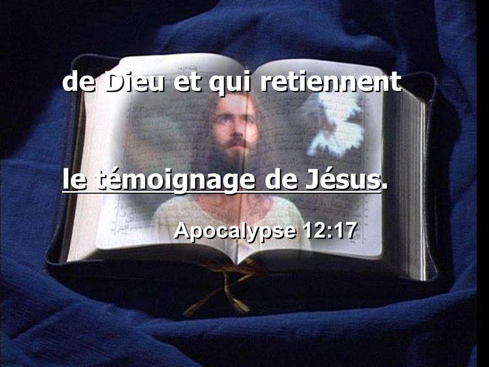 de Dieu et qui retiennent