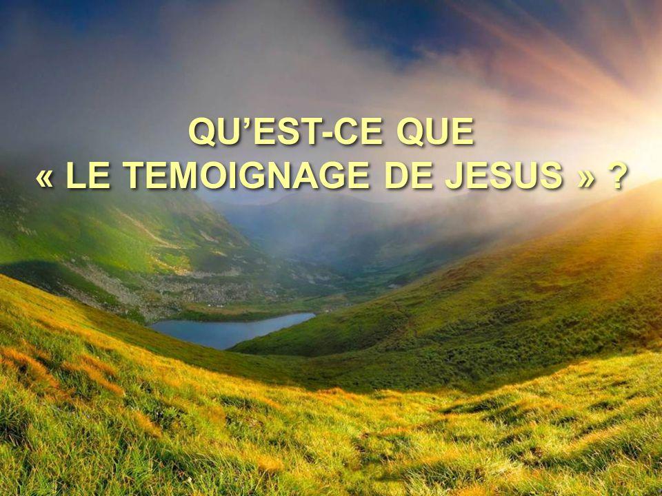QU'EST-CE QUE « LE TEMOIGNAGE DE JESUS »
