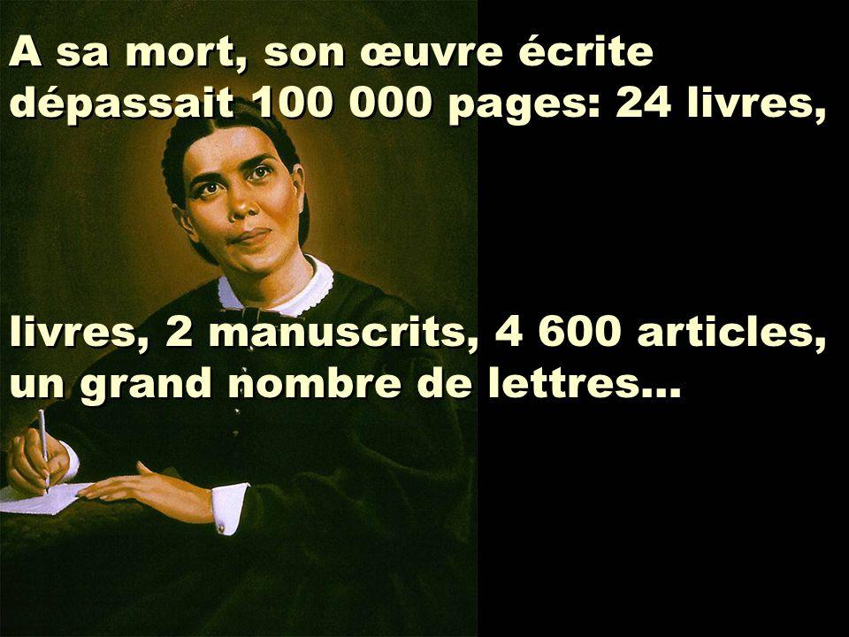 A sa mort, son œuvre écrite dépassait 100 000 pages: 24 livres,
