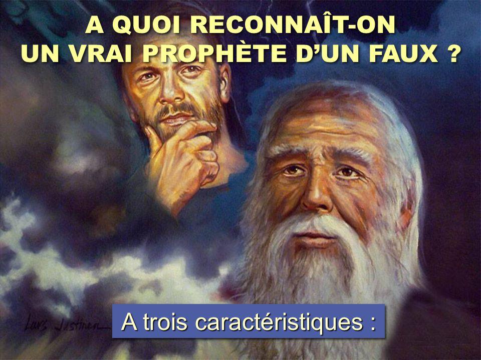 UN VRAI PROPHÈTE D'UN FAUX