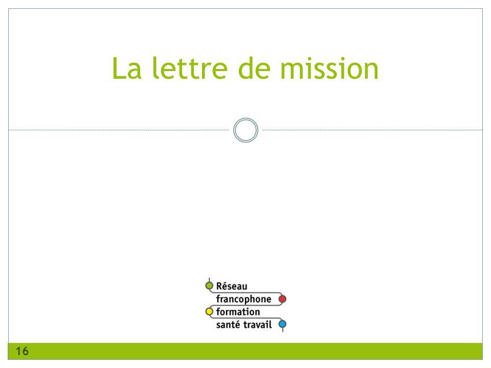 La lettre de mission