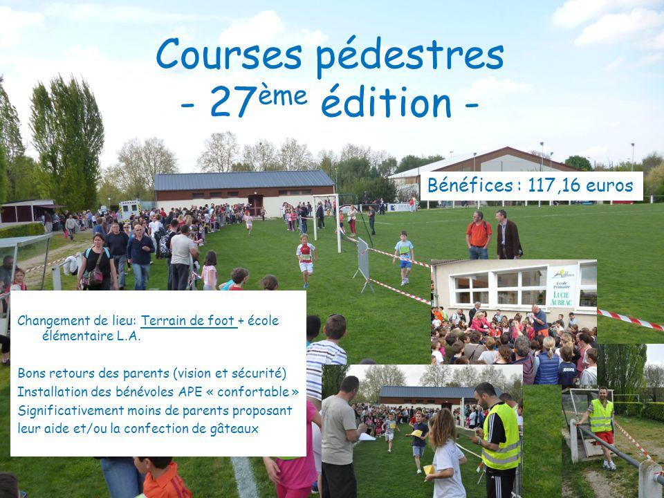 Courses pédestres - 27ème édition -