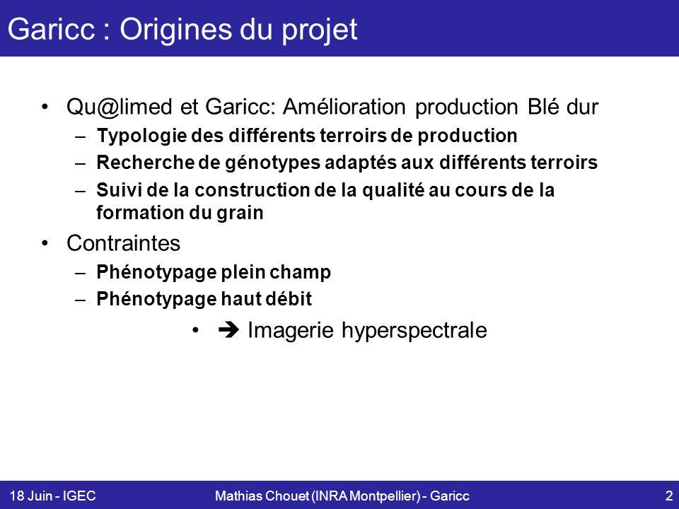 Garicc : Origines du projet