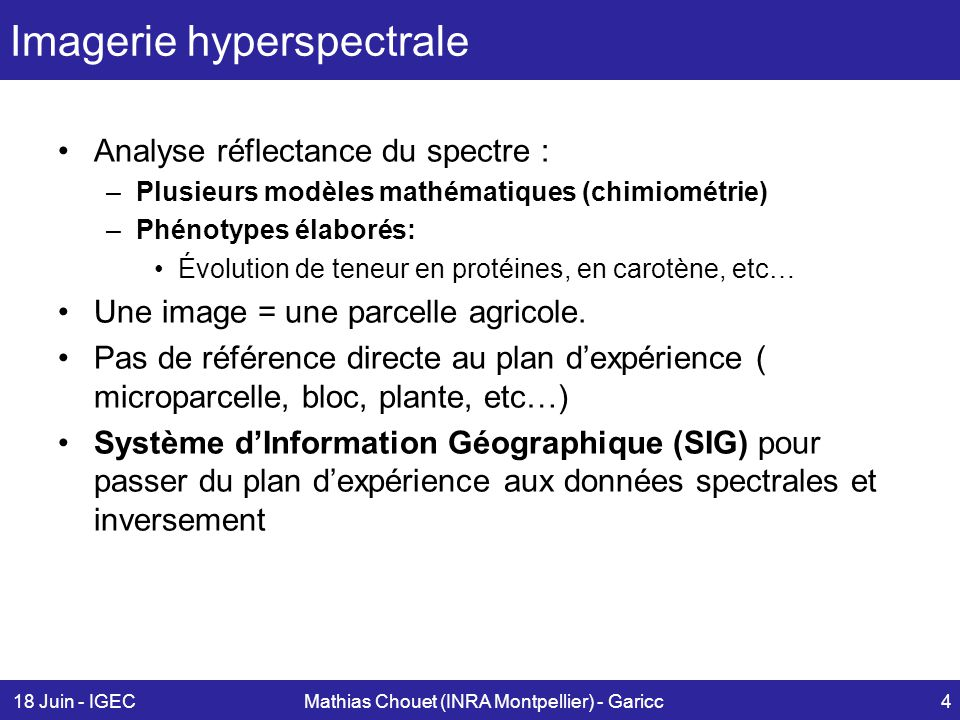 Imagerie hyperspectrale