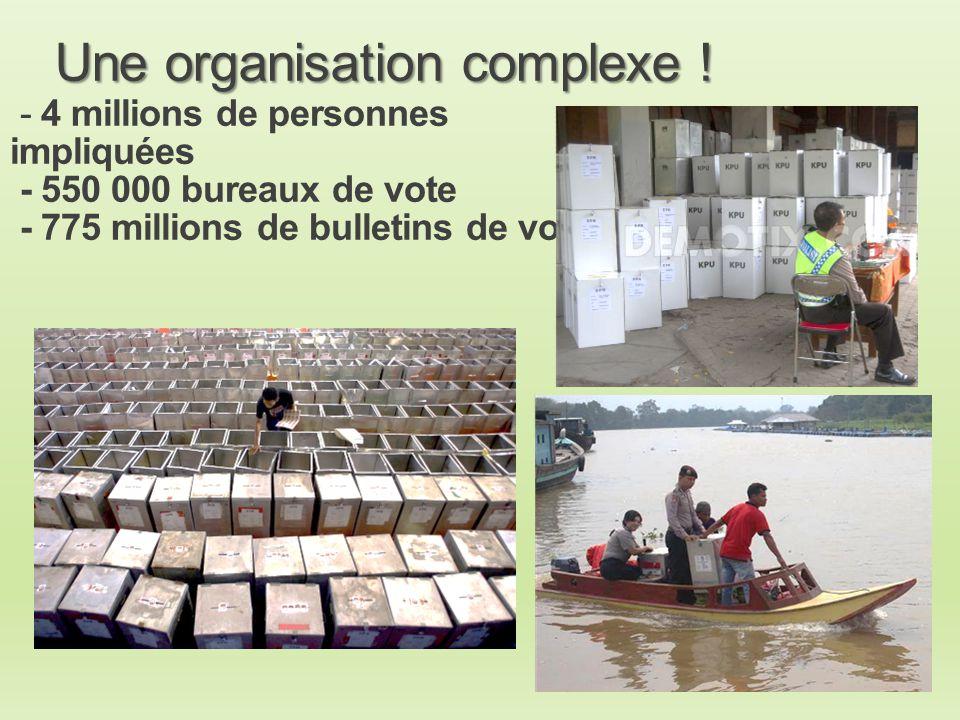 Une organisation complexe !