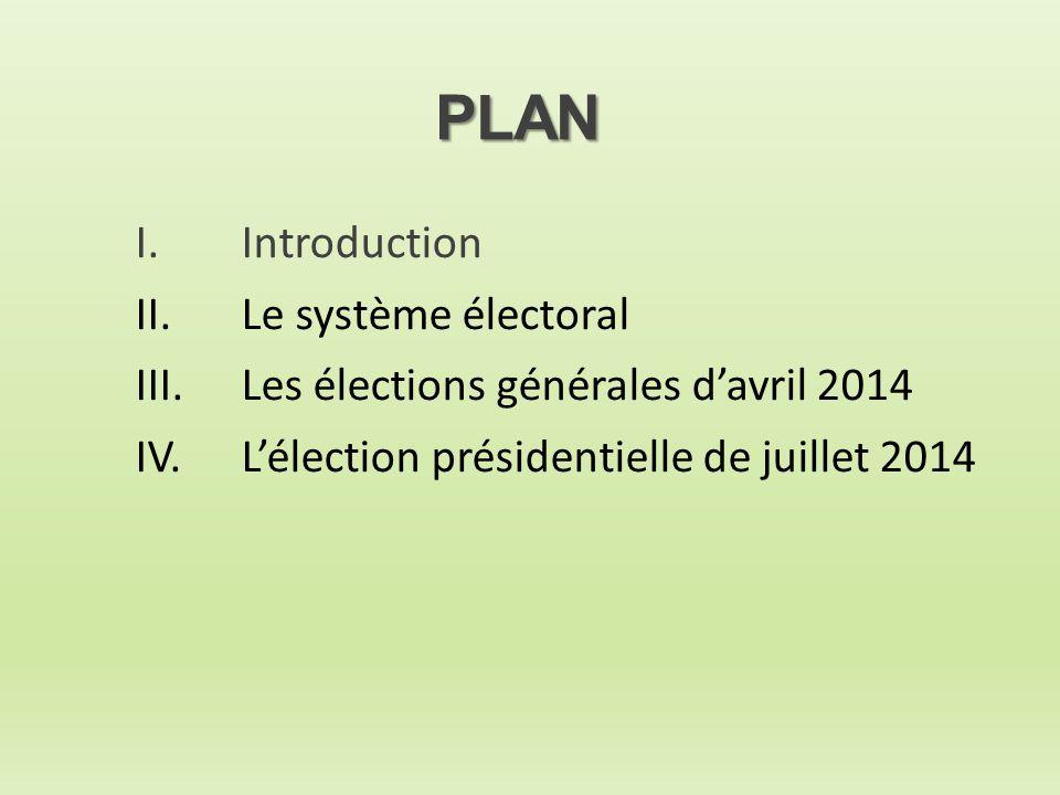 PLAN I. Introduction II. Le système électoral