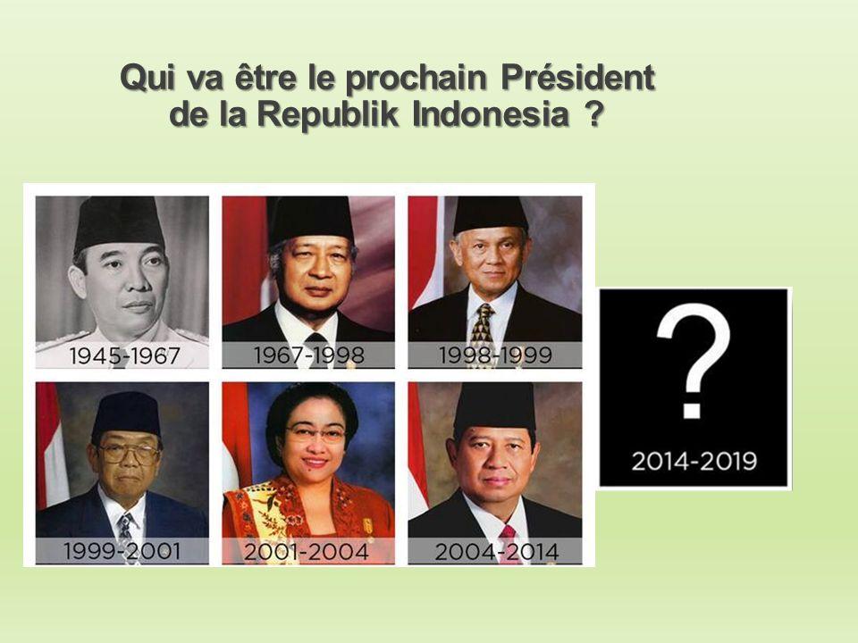 Qui va être le prochain Président de la Republik Indonesia