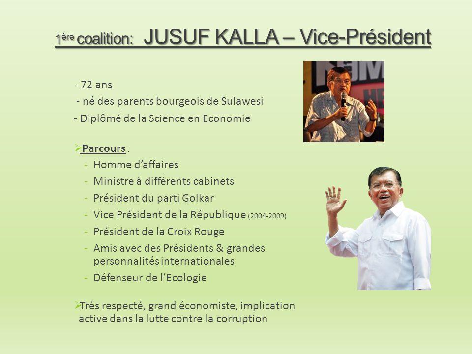 1ère coalition: JUSUF KALLA – Vice-Président