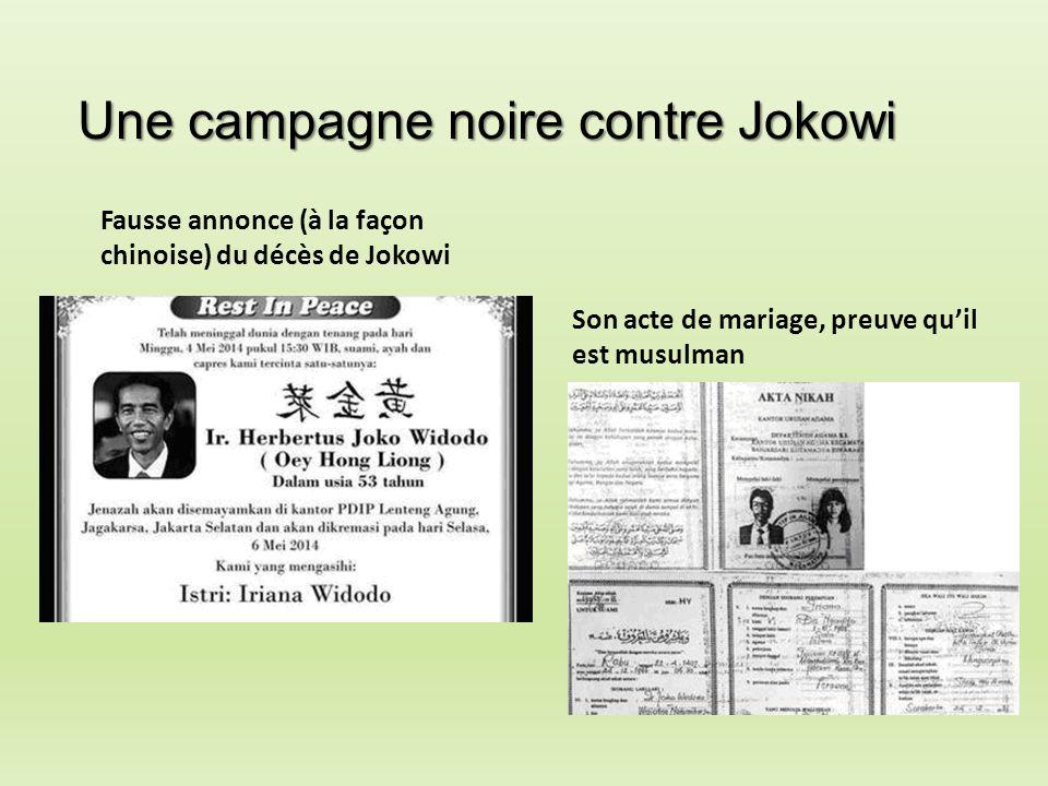 Une campagne noire contre Jokowi