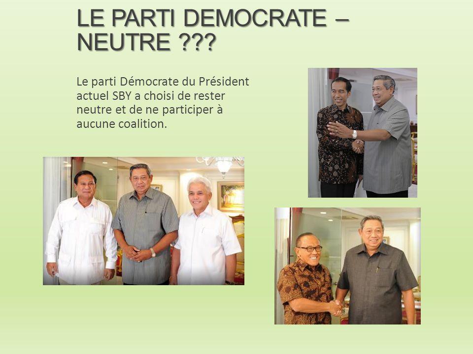 LE PARTI DEMOCRATE – NEUTRE