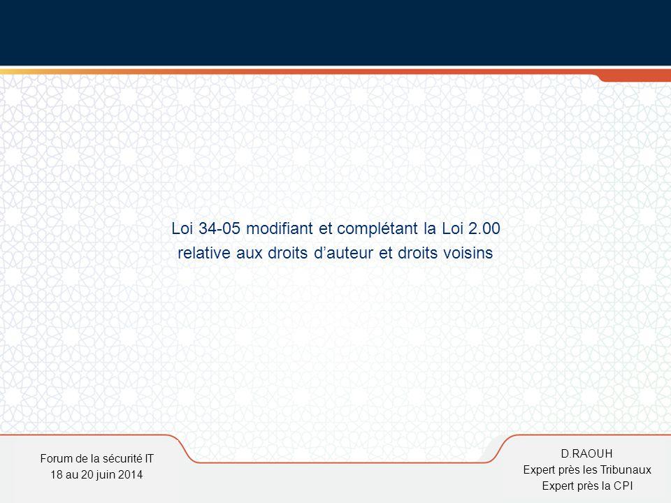 Loi 34-05 modifiant et complétant la Loi 2.00