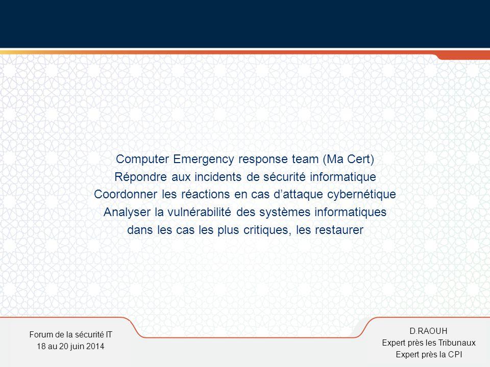 Computer Emergency response team (Ma Cert)