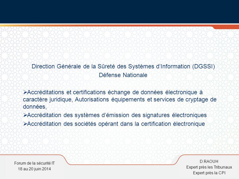 Direction Générale de la Sûreté des Systèmes d'Information (DGSSI)
