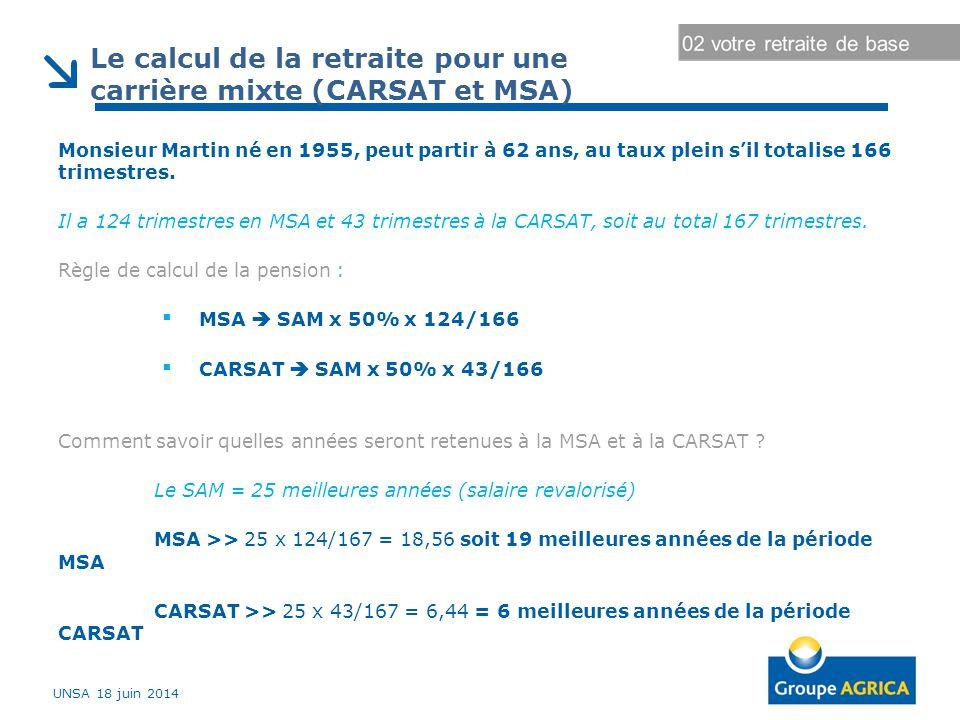 Le calcul de la retraite pour une carrière mixte (CARSAT et MSA)